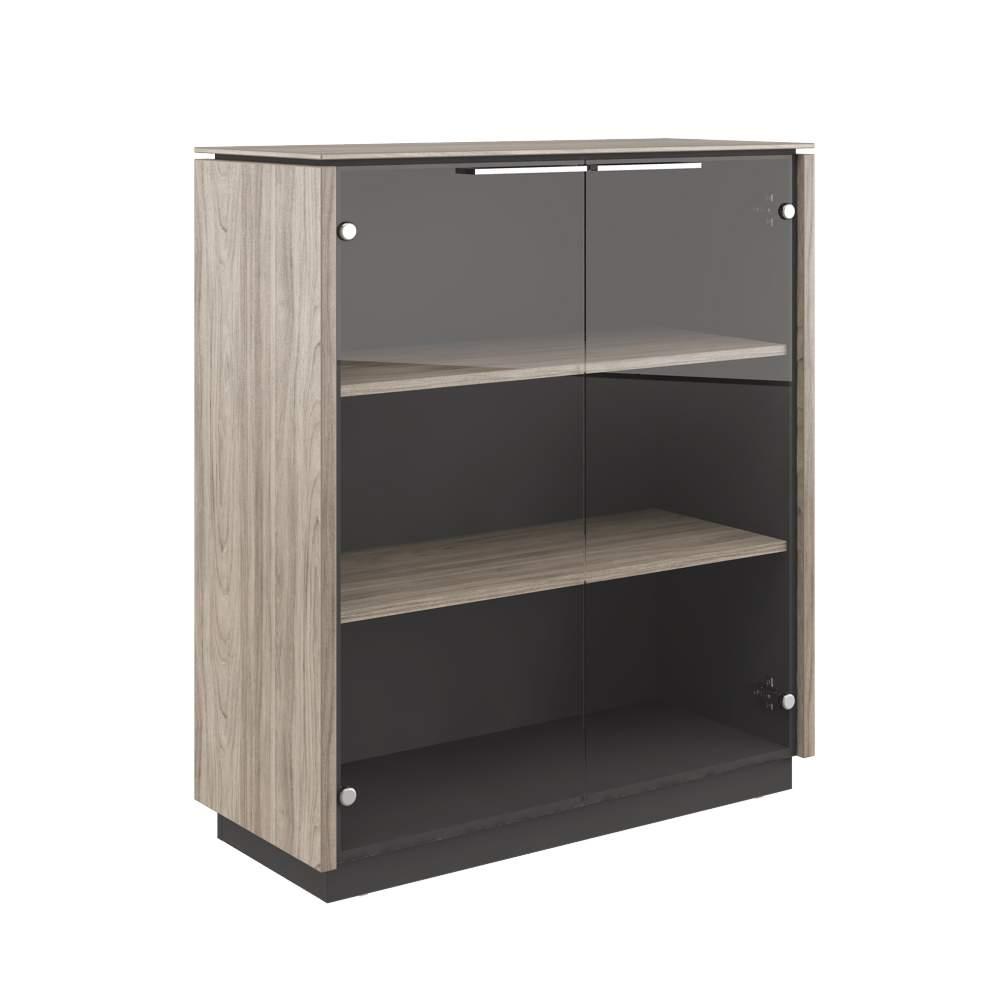 Шкаф двухдверный средний стекло 1030x420x1170