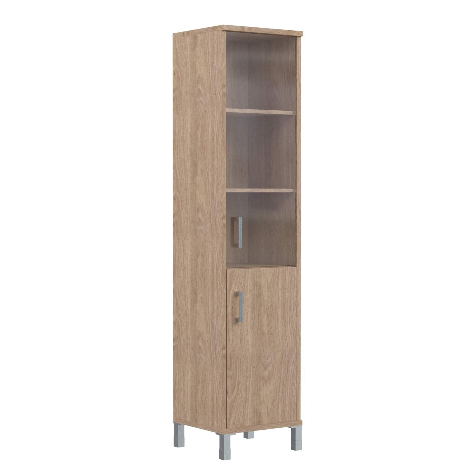 Шкаф колонка комбинированная со стеклом правая 475х435х2004