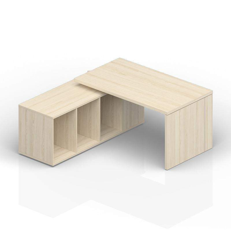 Стол на опорной сервисной тумбе (левый) 1800(+0/150/300)х1800х735