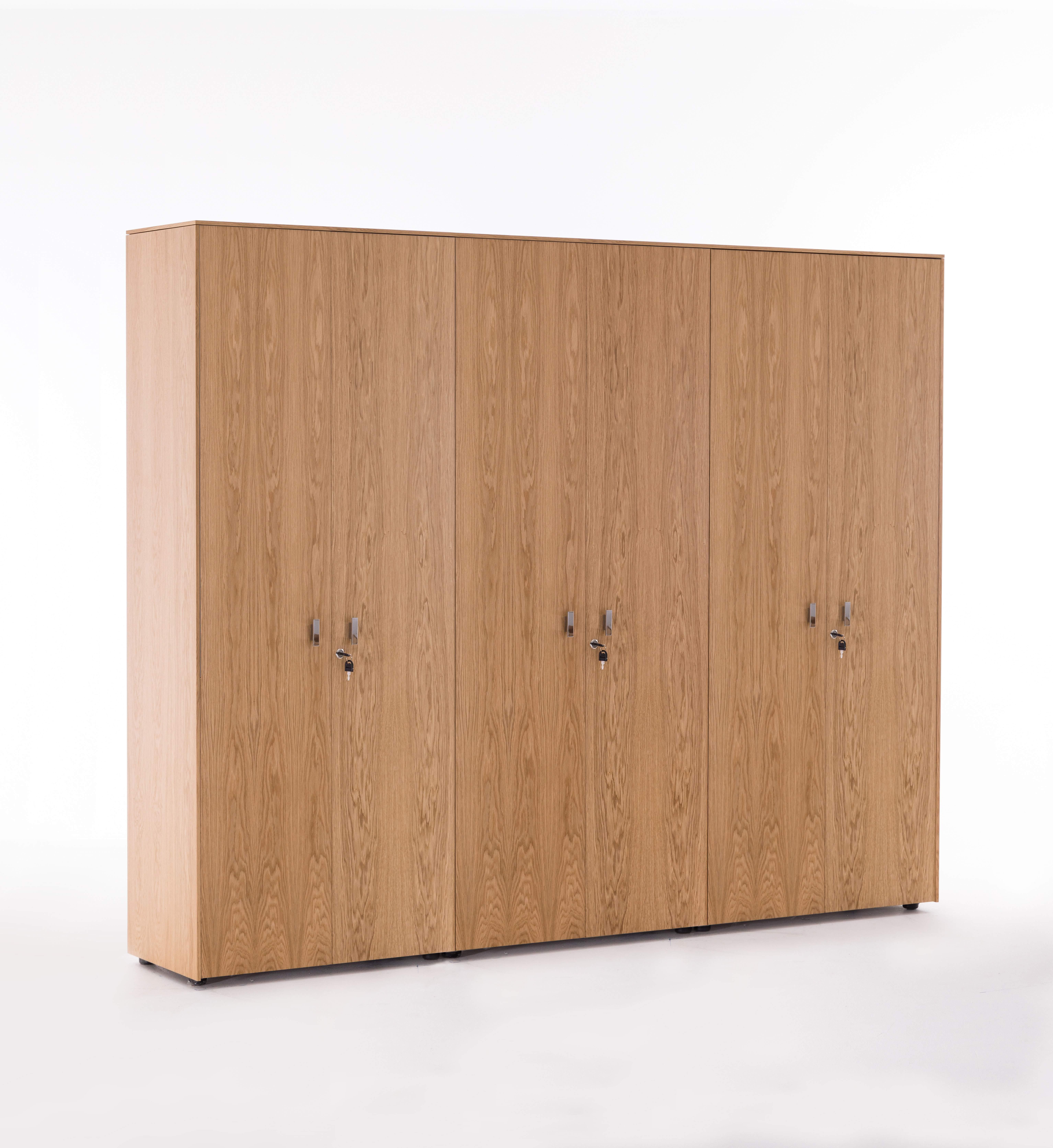 Шкаф для бумаг с гардеробом 2420x440x1970