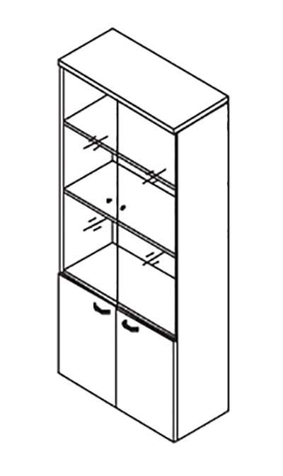 Шкаф комбинированный 900x420x2069