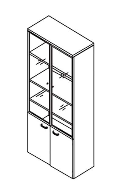 Шкаф комбинированный алюминиевый 900x420x2069