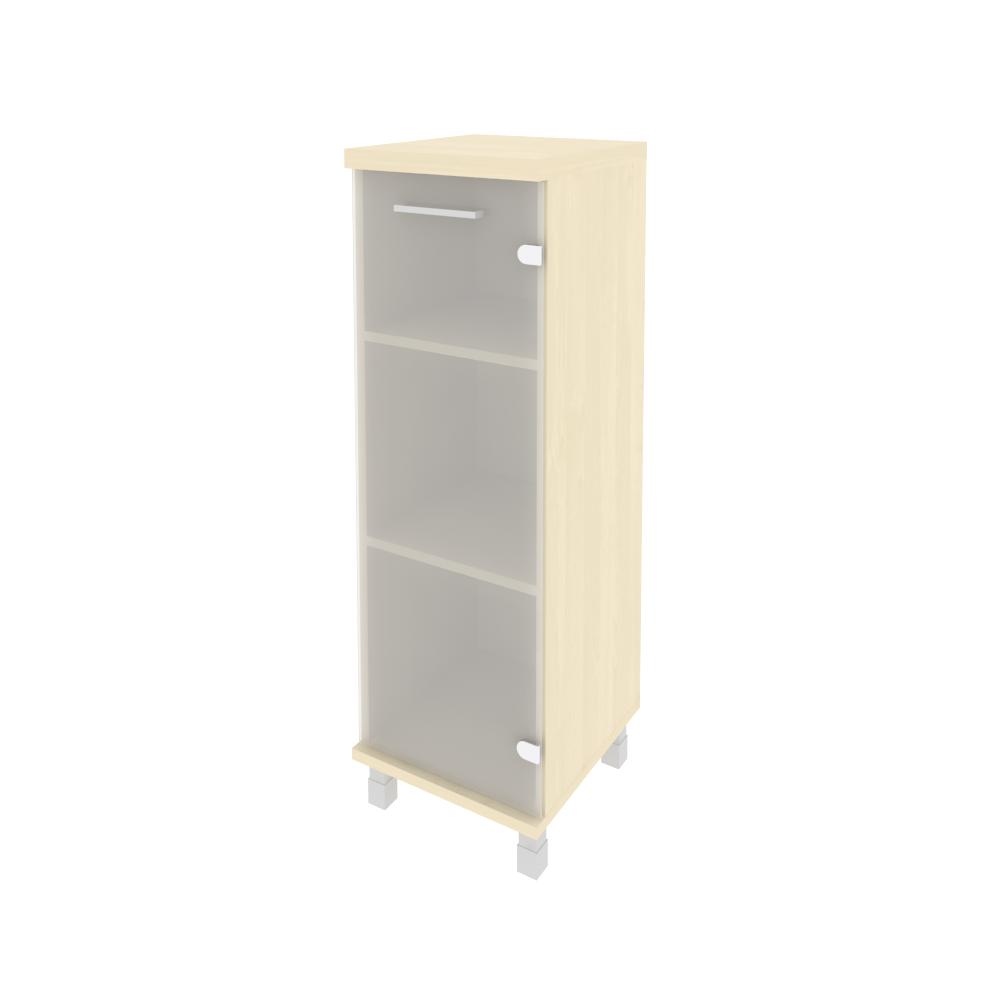 Шкаф средний узкий правый со стеклом 401x432x2060