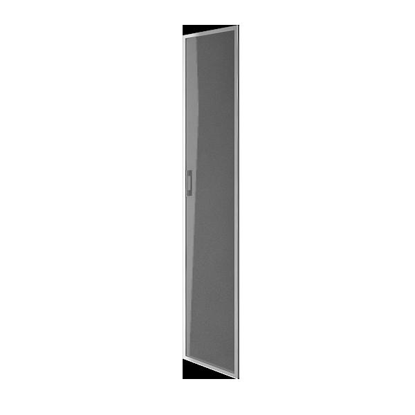 Дверь стеклянная матовая в раме правая 397х1960х22