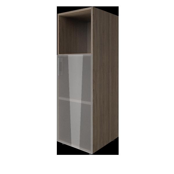 Стеллаж средний узкий правый со стеклянными дверцами 400x450x1195