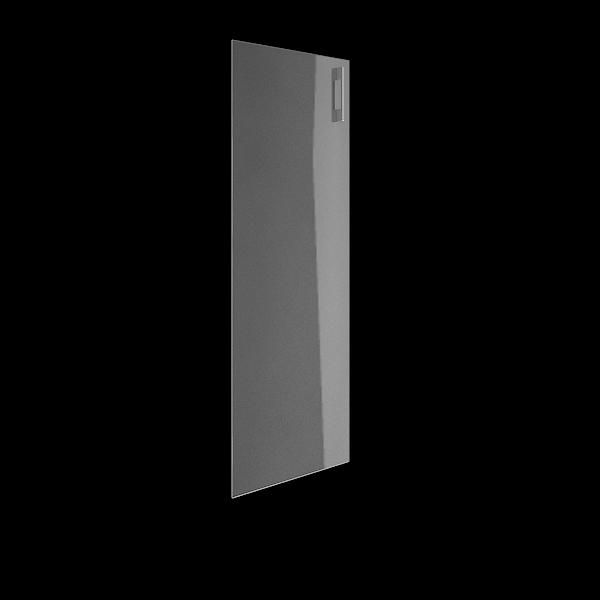 Дверь стеклянная матовая левая 397х1164х0,4