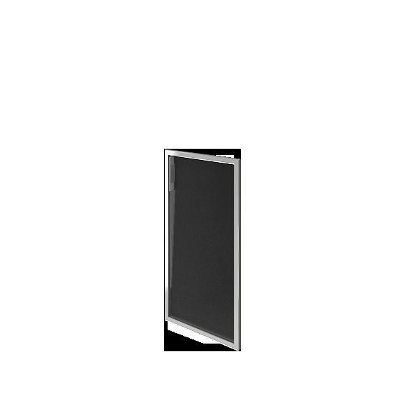 Дверь стеклянная в раме правая 397х790х22