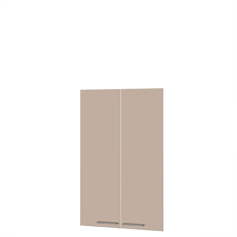 Комплект средних дверей стекло 396х1245х5 * 2