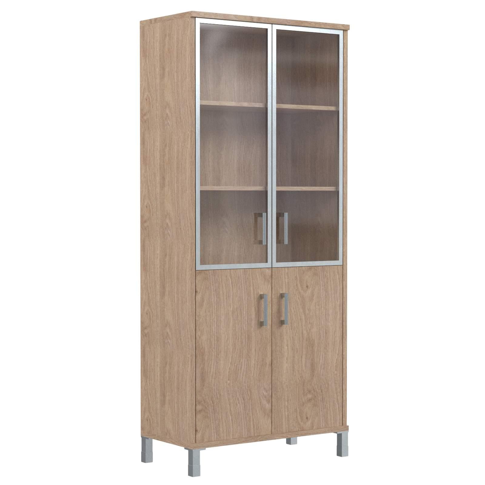 Шкаф комбинированный со стеклом в раме 900х435х2004