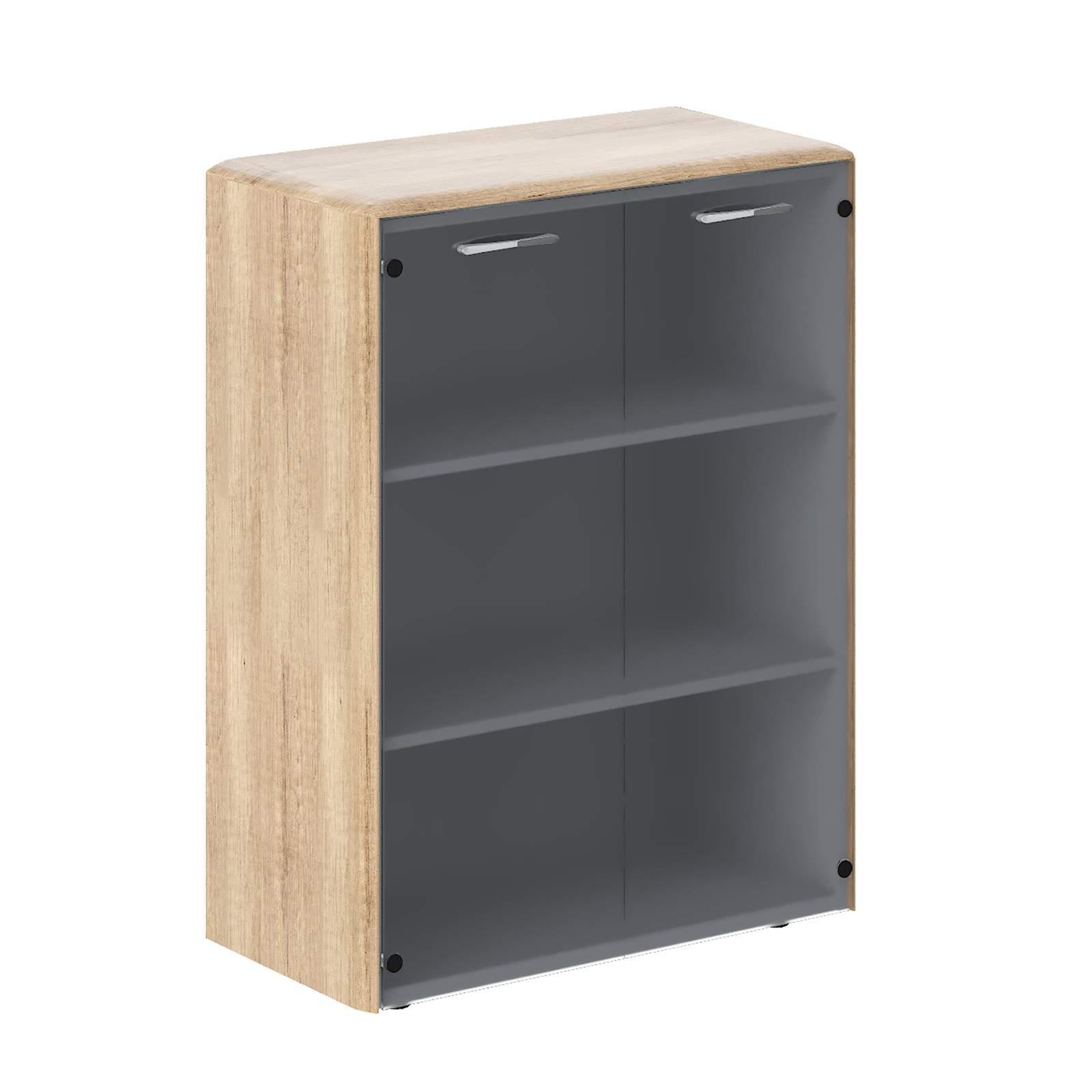 Шкаф средний со стеклом 850x430x116