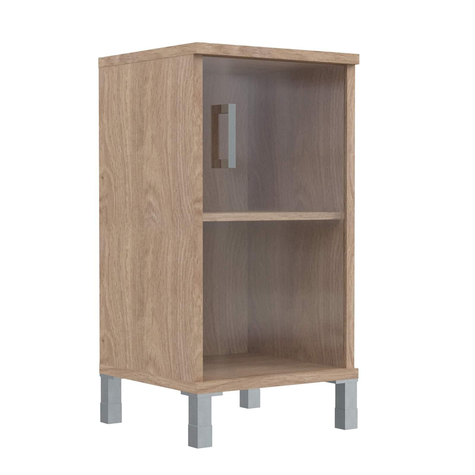 Шкаф колонка низкая со стеклянной дверью 475х435х870