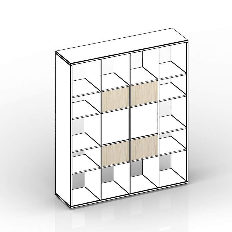 Комплект задних стенок (малых) для стеллажа SPBAS 385х18х246 - 4 шт