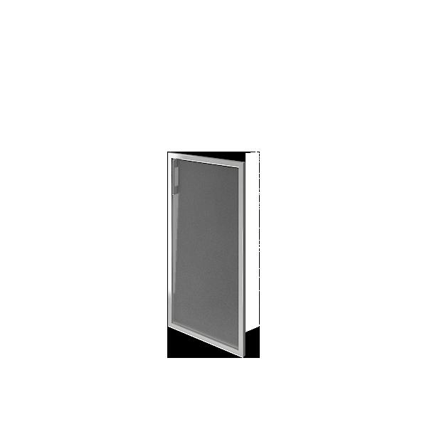 Дверь стеклянная матовая в раме правая 397х790х22