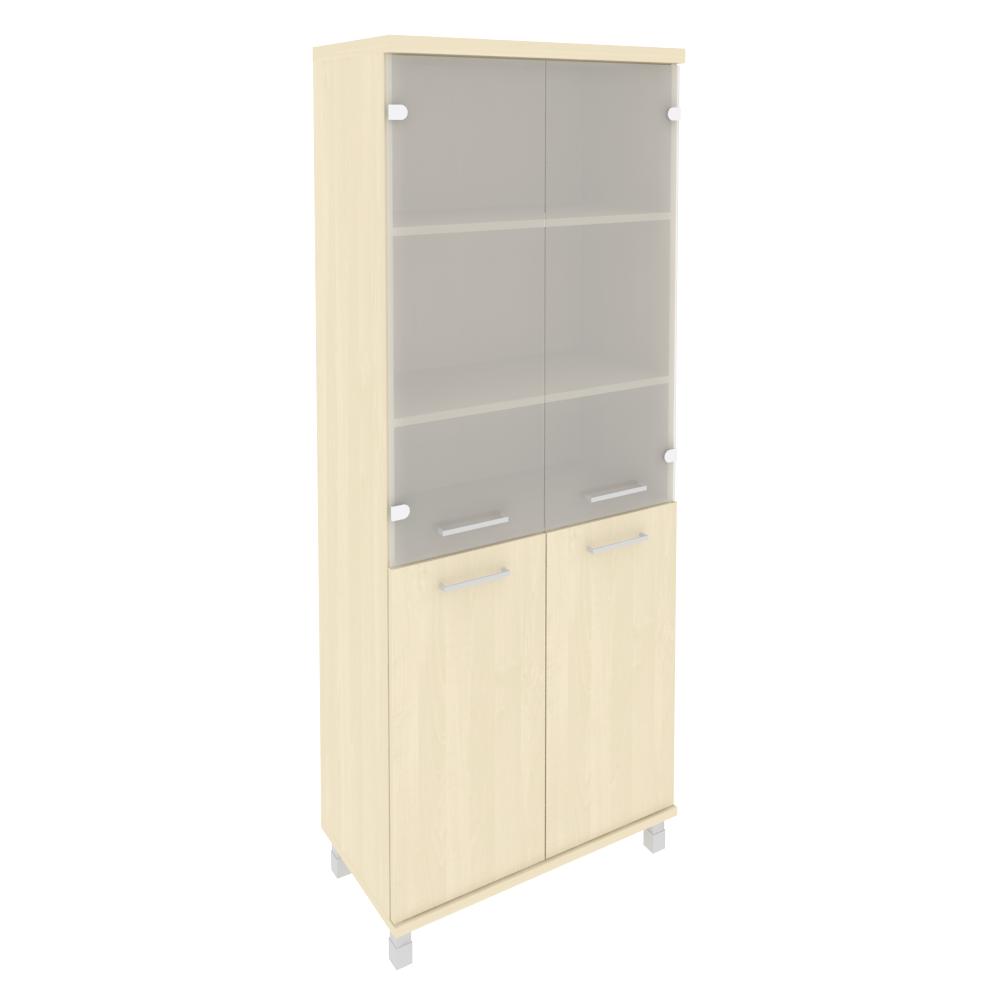 Шкаф высокий широкий со стеклом 801x432x2060