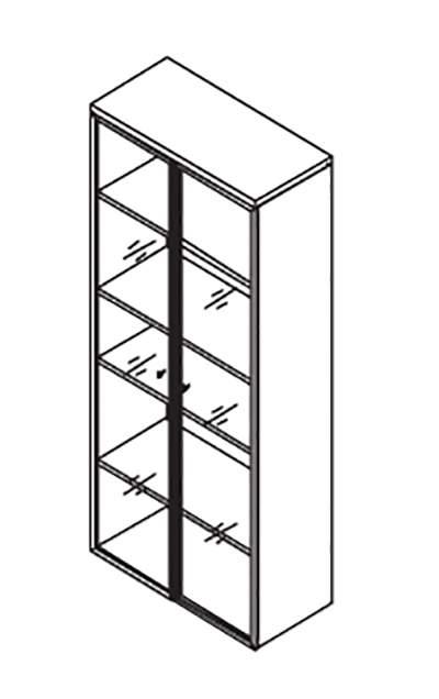 Шкаф большие алюминиевые двери 900x420x2069