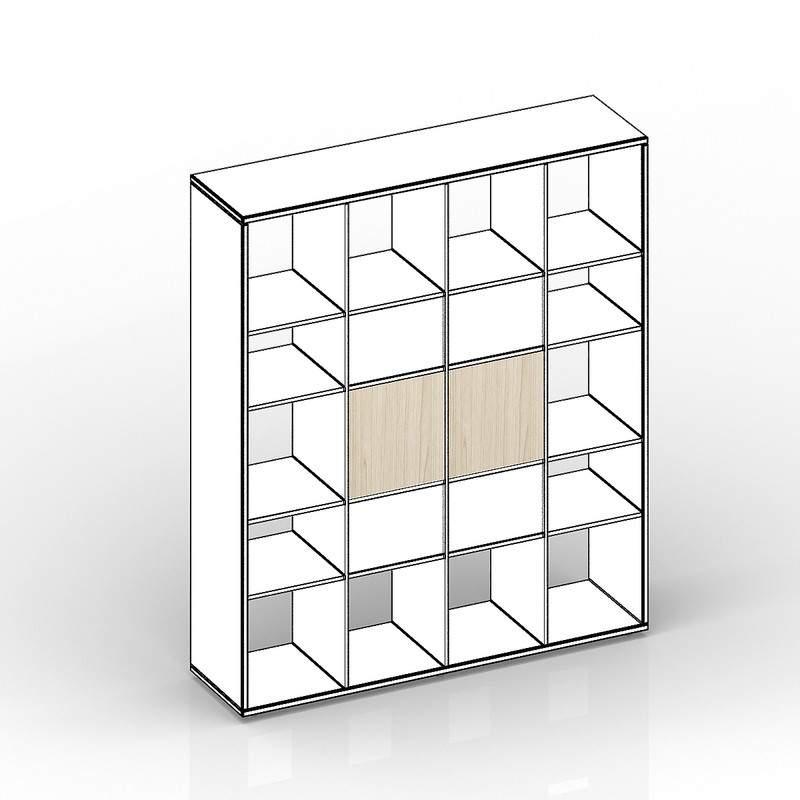 Комплект задних стенок (больших) для стеллажа SPBAS 385х18х385 - 2 шт