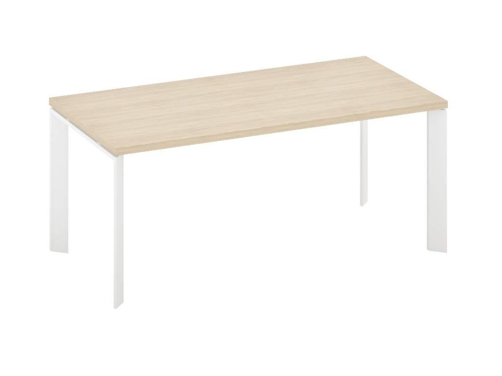 Стол с черными/белыми опорами 1600x900x770