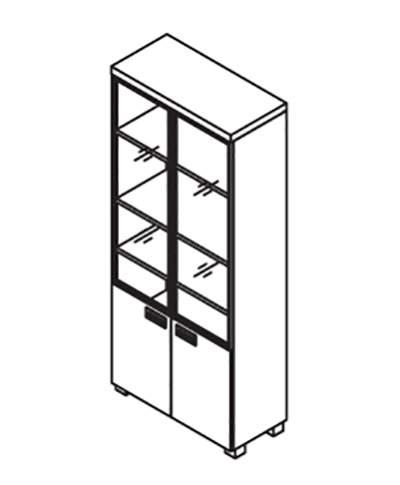 Шкаф комбинированный 900x420x2130