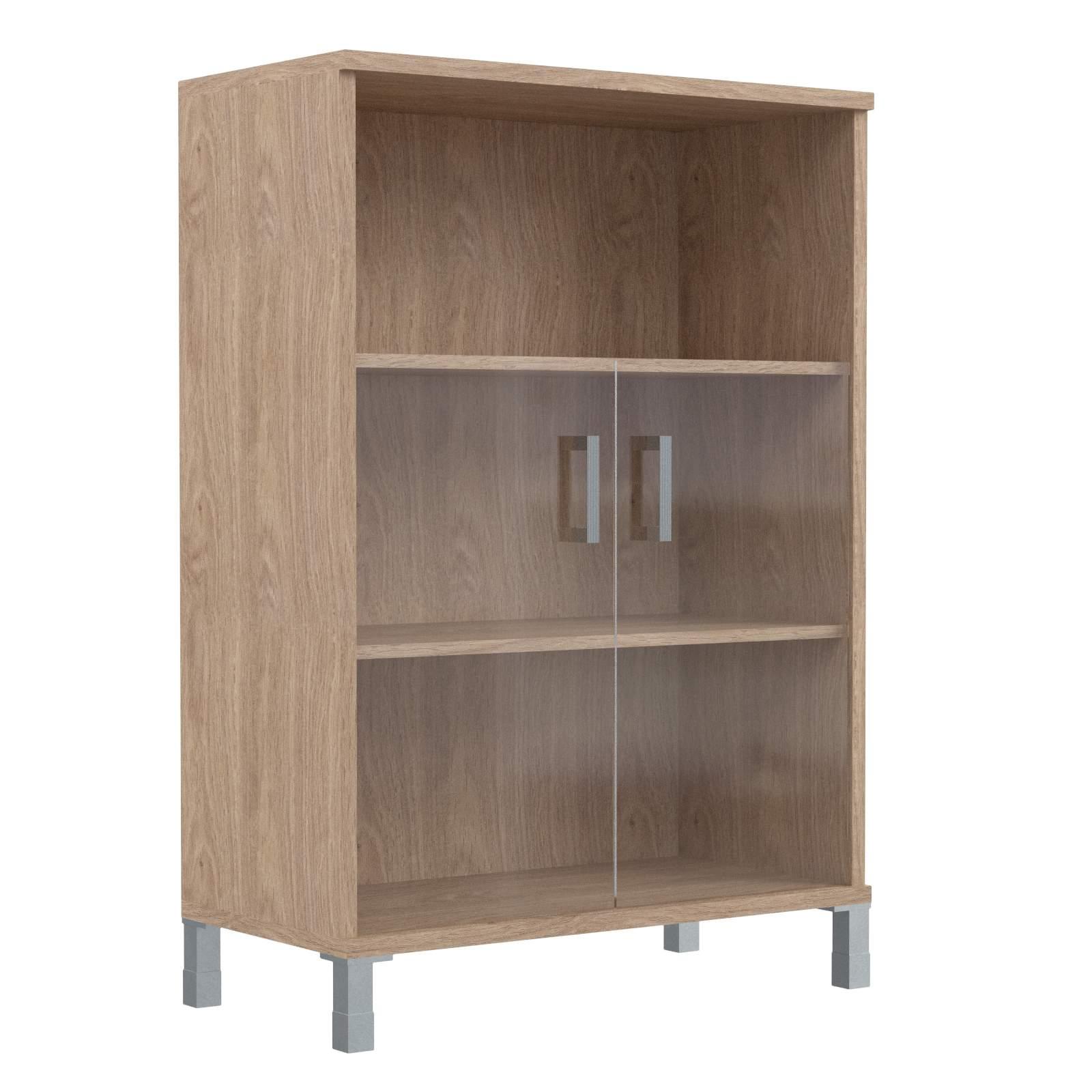 Шкаф средний с малыми стеклянными дверьми 900х435х1236