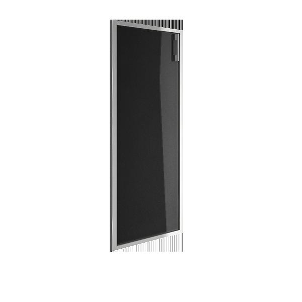 Дверь стеклянная в раме левая 1042x544x22