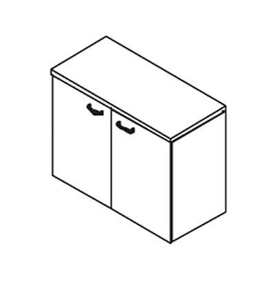 Шкаф 72  с деревянными дверцами 900x420x707