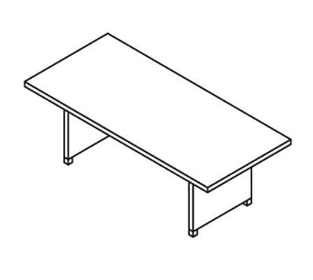 Стол для переговоров 2200x1000x750