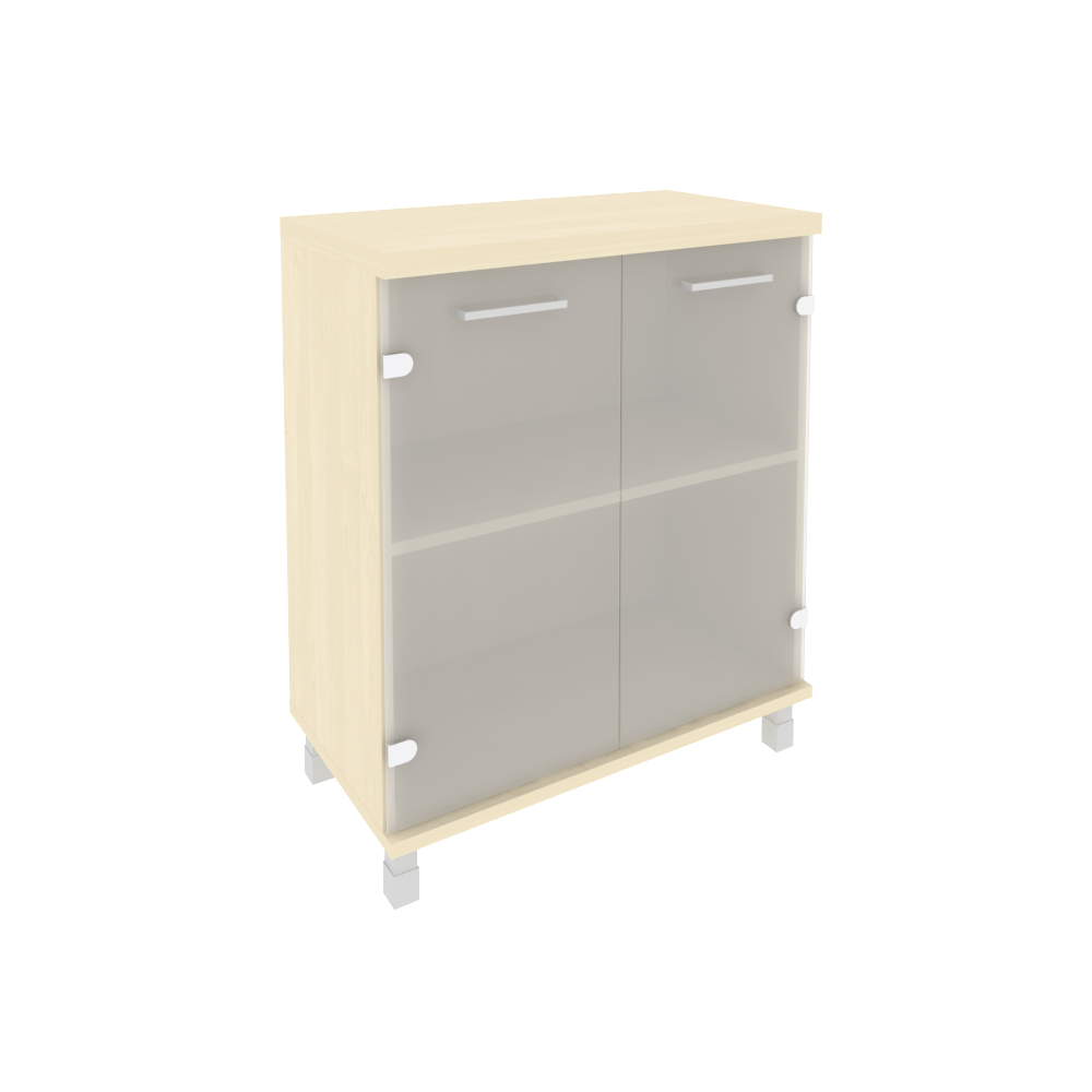 Шкаф низкий широкий со стеклом 801x432x958