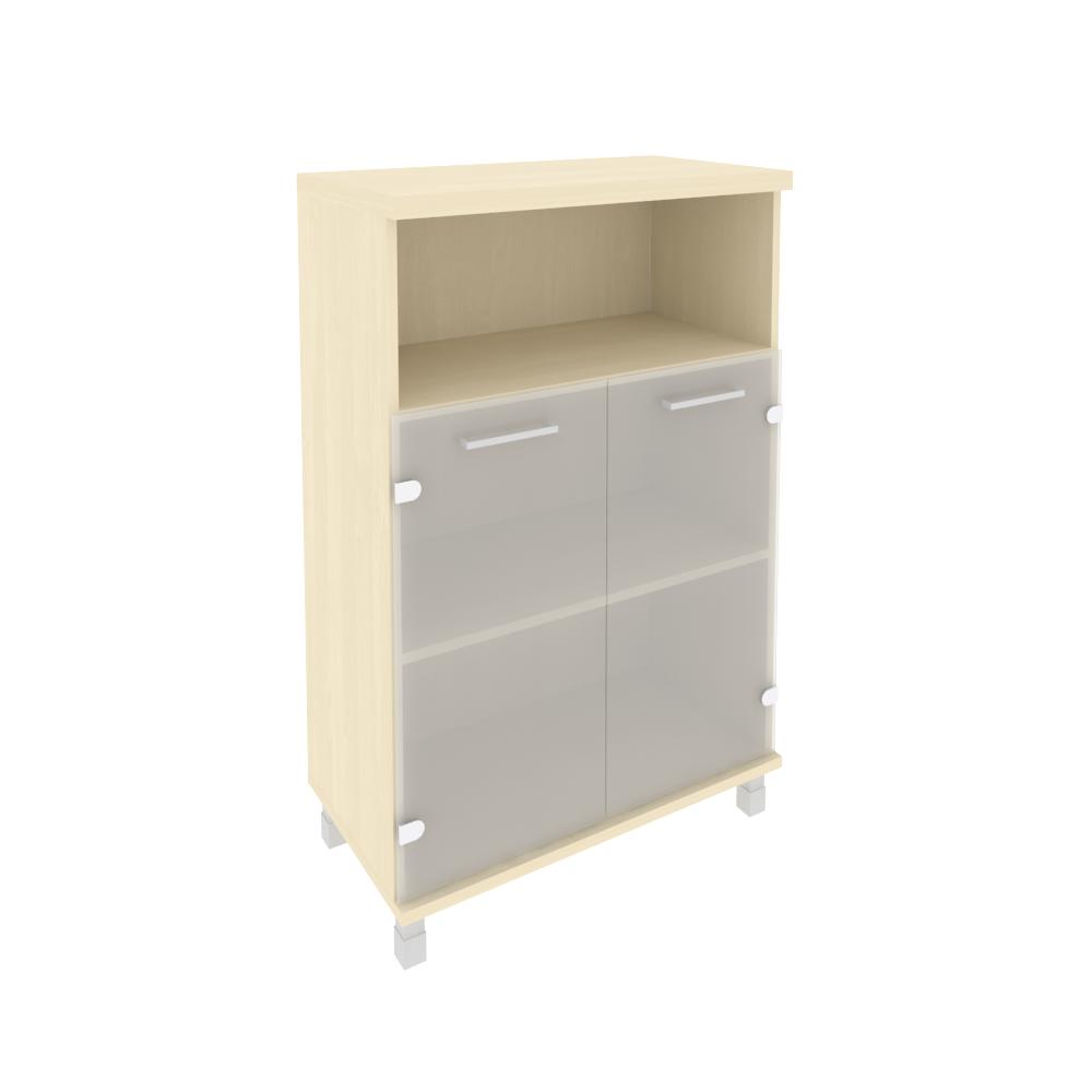 Шкаф средний широкий со стеклом 801x432x1260