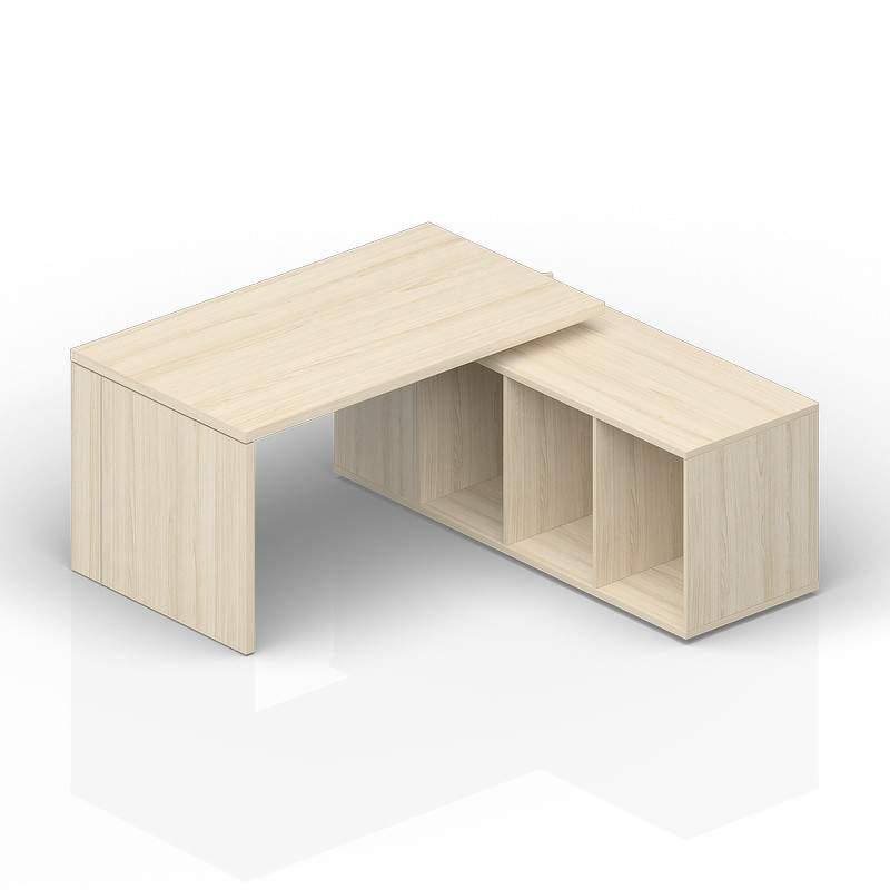 Стол на опорной сервисной тумбе (правый) 1600(+0/150/300)х1800х735