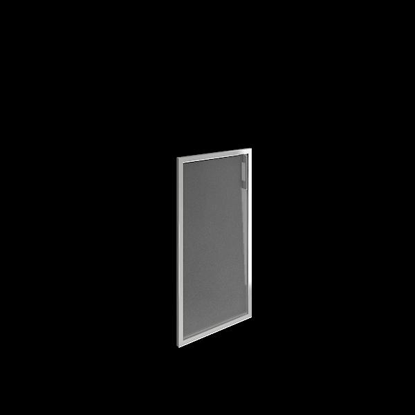 Дверь стеклянная матовая в раме левая 397х790х22