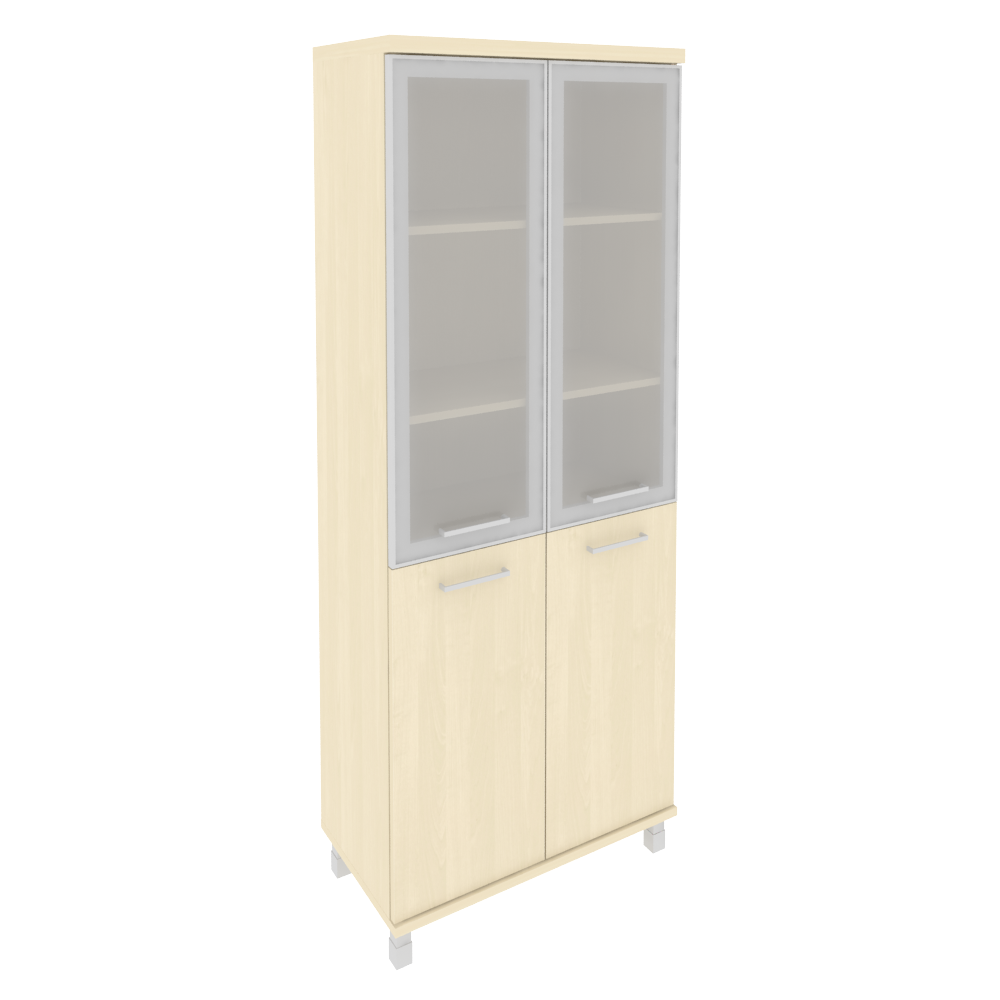 Шкаф высокий широкий со стеклом в раме 801x432x2060