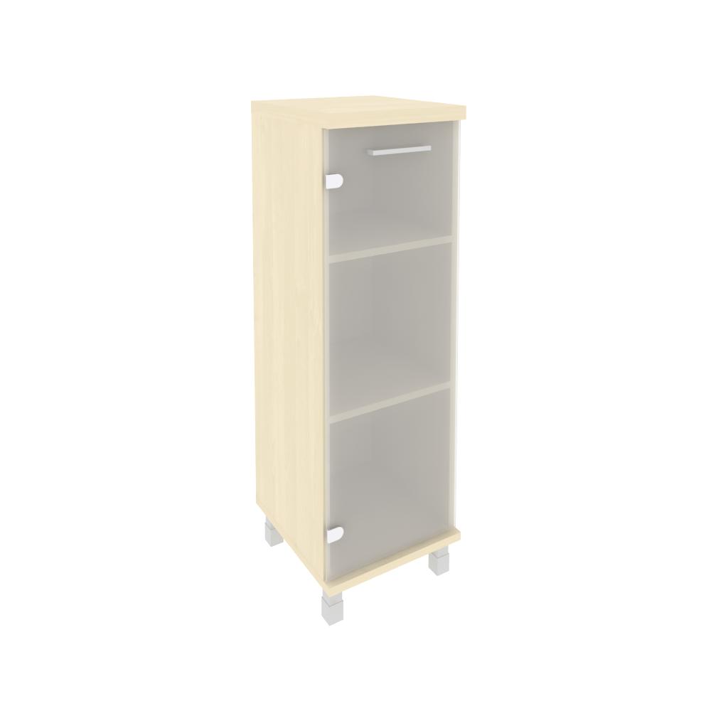 Шкаф средний узкий левый со стеклом 401x432x2060