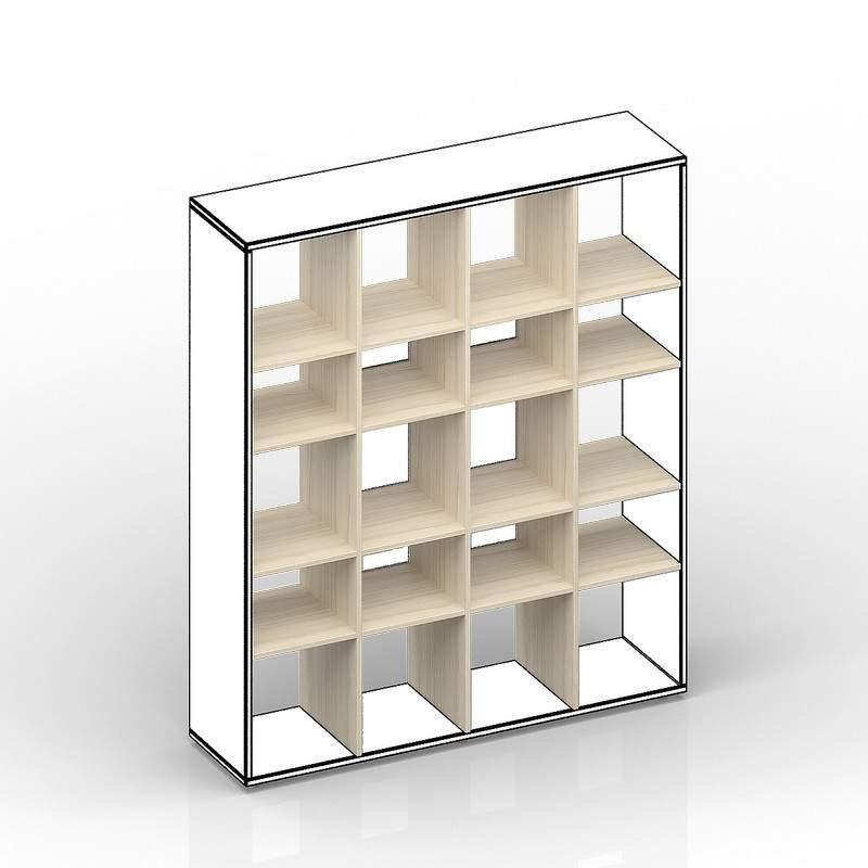 Комплект вертикальных стоек и полок для стеллажа SPBAS