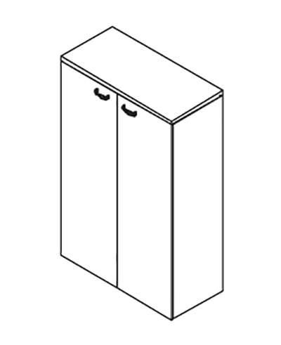 Шкаф 140  с деревянными дверями 900x420x1411