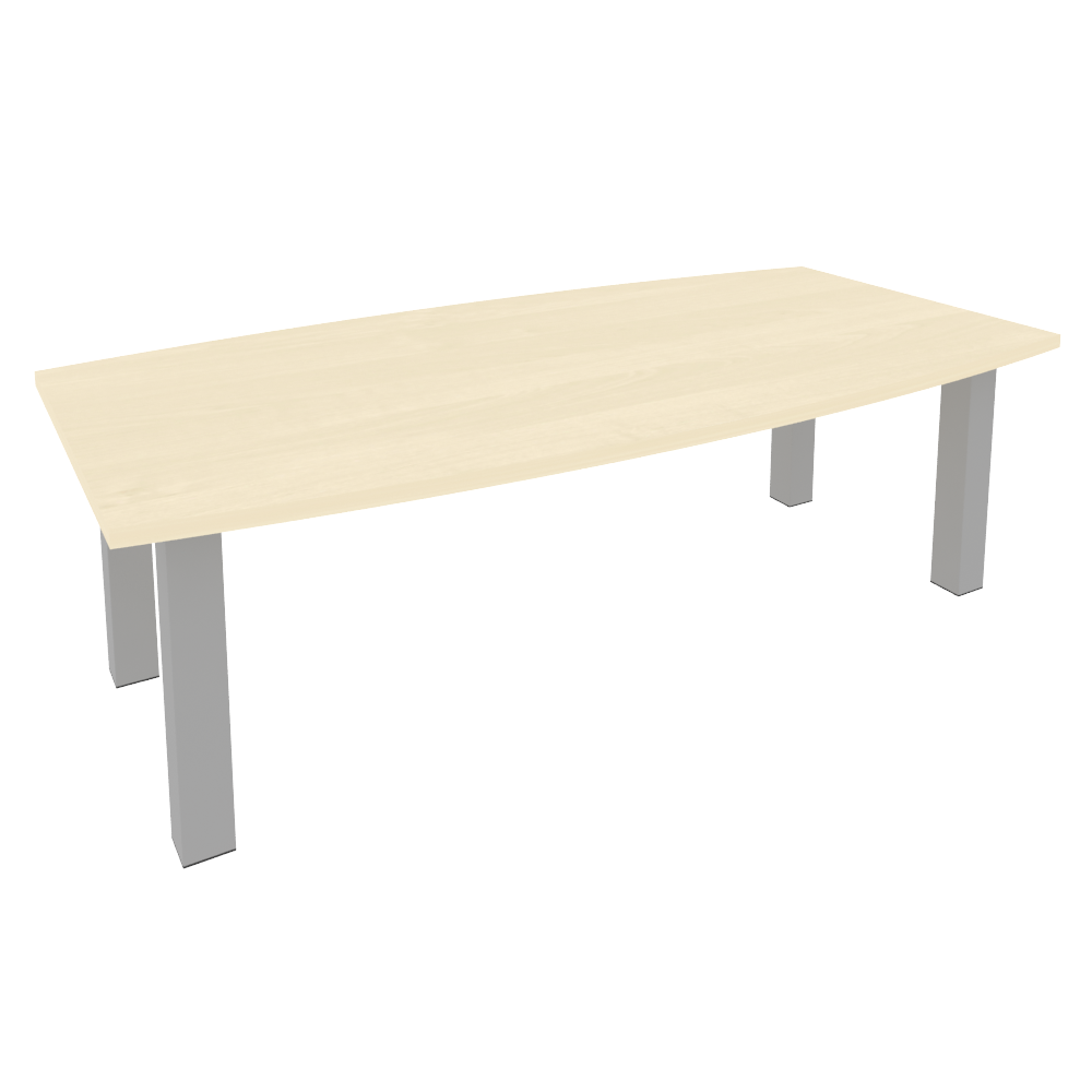 Стол переговорный на металлокаркасе 2400x1200x750