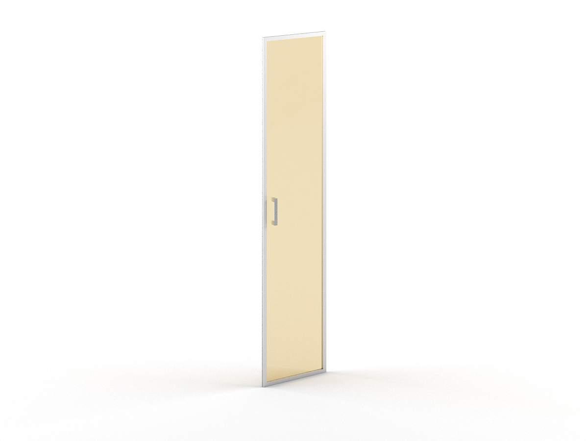 Дверь стеклянная высокая правая в раме 420x22x1900