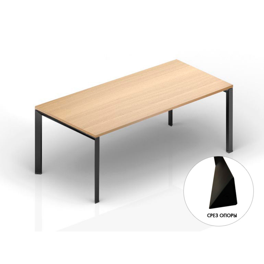 Стол для переговоров на м/каркасе 2400х1400х750