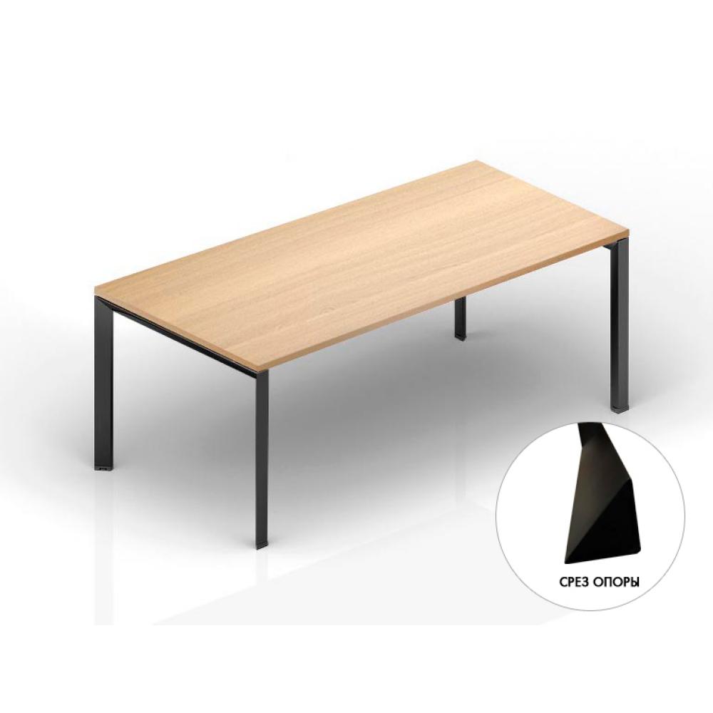 Стол руководителя на м/каркасе 2000х900750