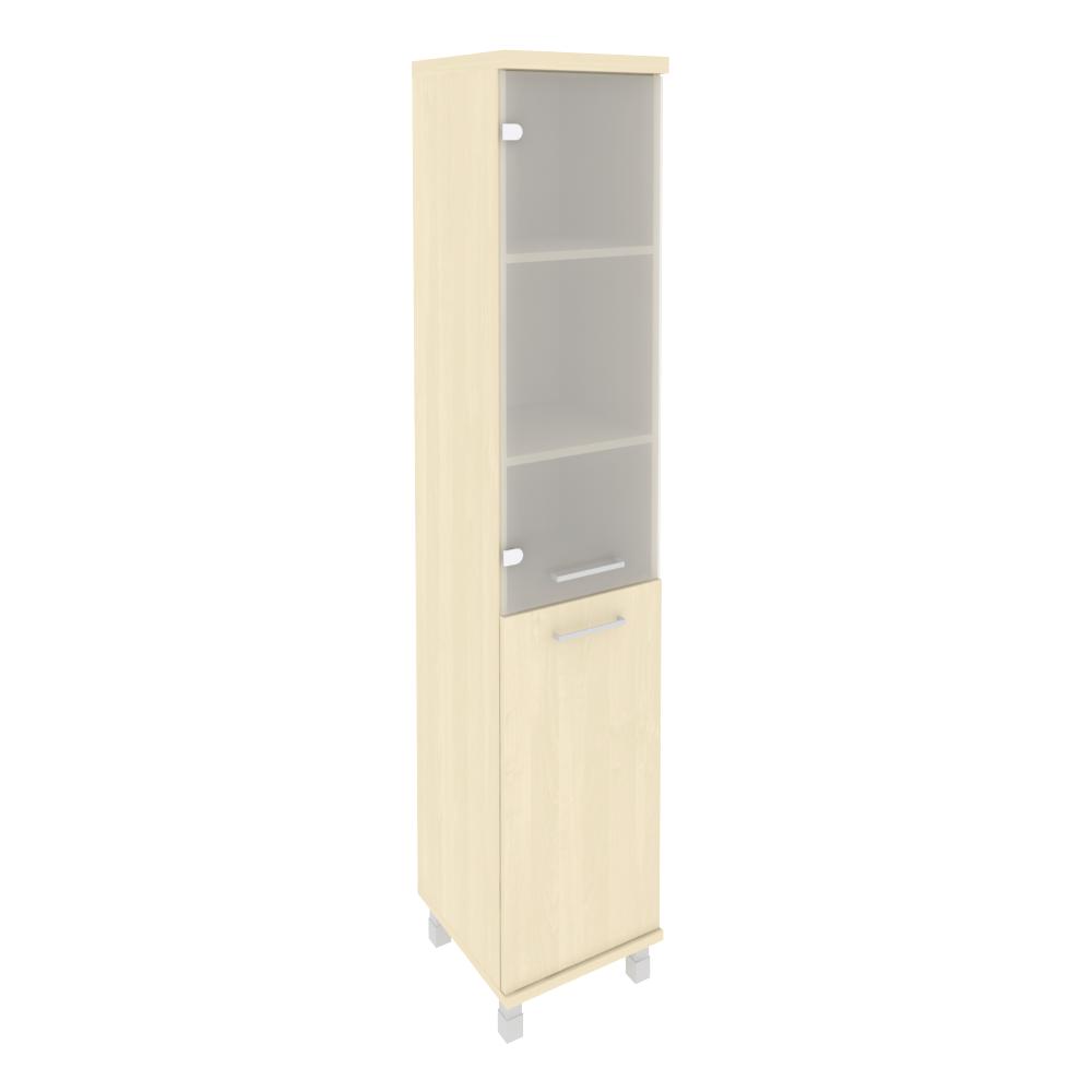 Шкаф высокий узкий левый со стеклом 401x432x2060