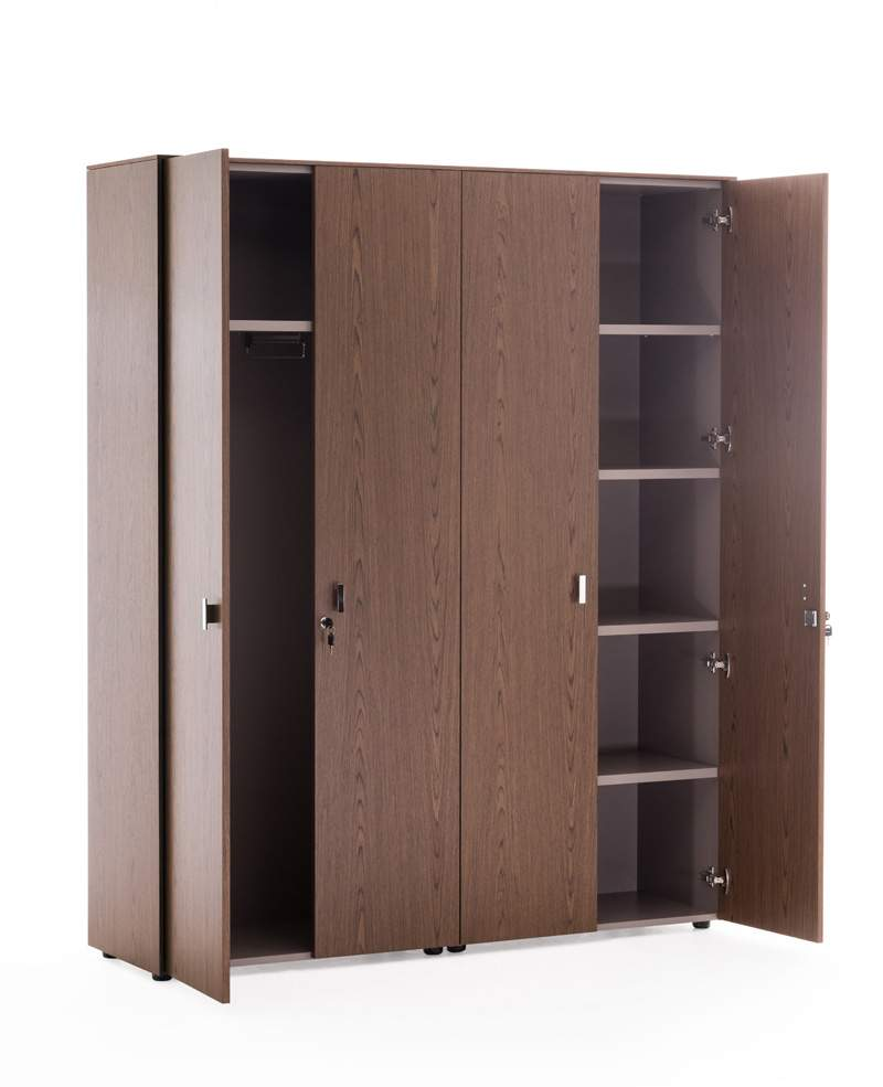 Шкаф для бумаг с гардеробом 1620x440x1970