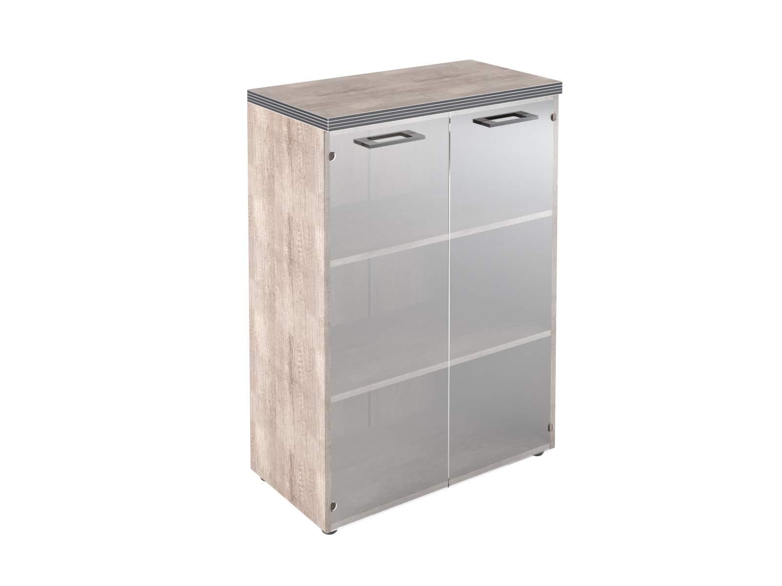 Шкаф  средний закрытый со стеклом 800x420x1207
