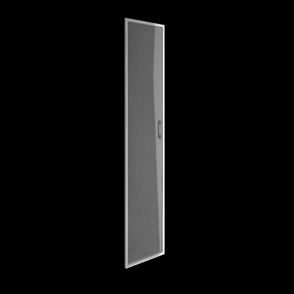 Дверь стеклянная матовая в раме левая 397х1960х22