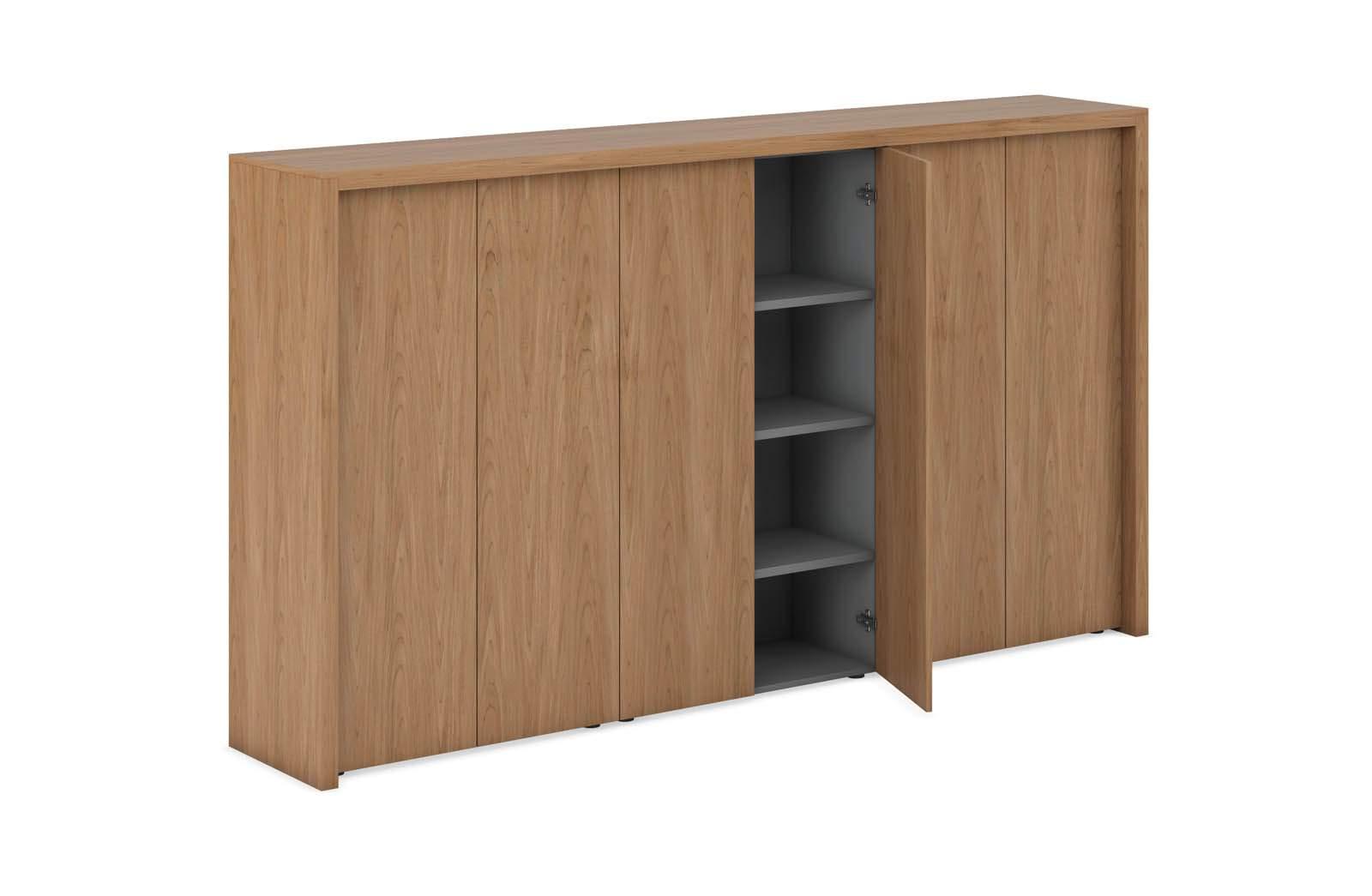 Композиция из 3 шкафов средних с декоративной обвязкой 2800x500x1567