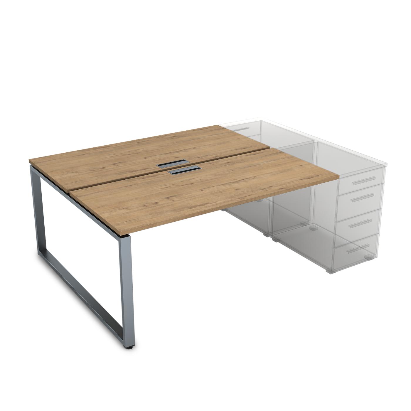 Стол приставной системы Бенч, сдвоенный, на 2 рабочих места 1400х1435х750