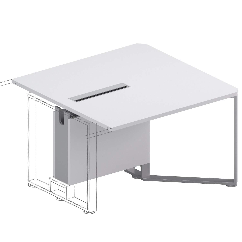 Крайний модуль сост. перег. стола 1200x1200x750