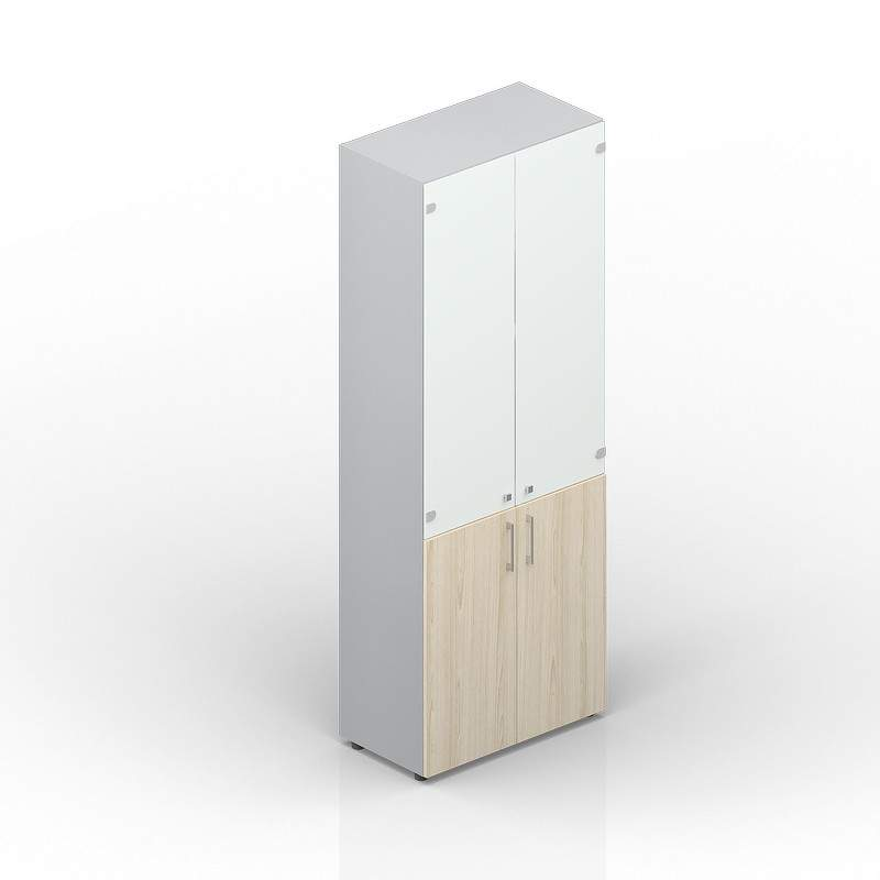 Шкаф высокий матовое стекло 800х440х1950