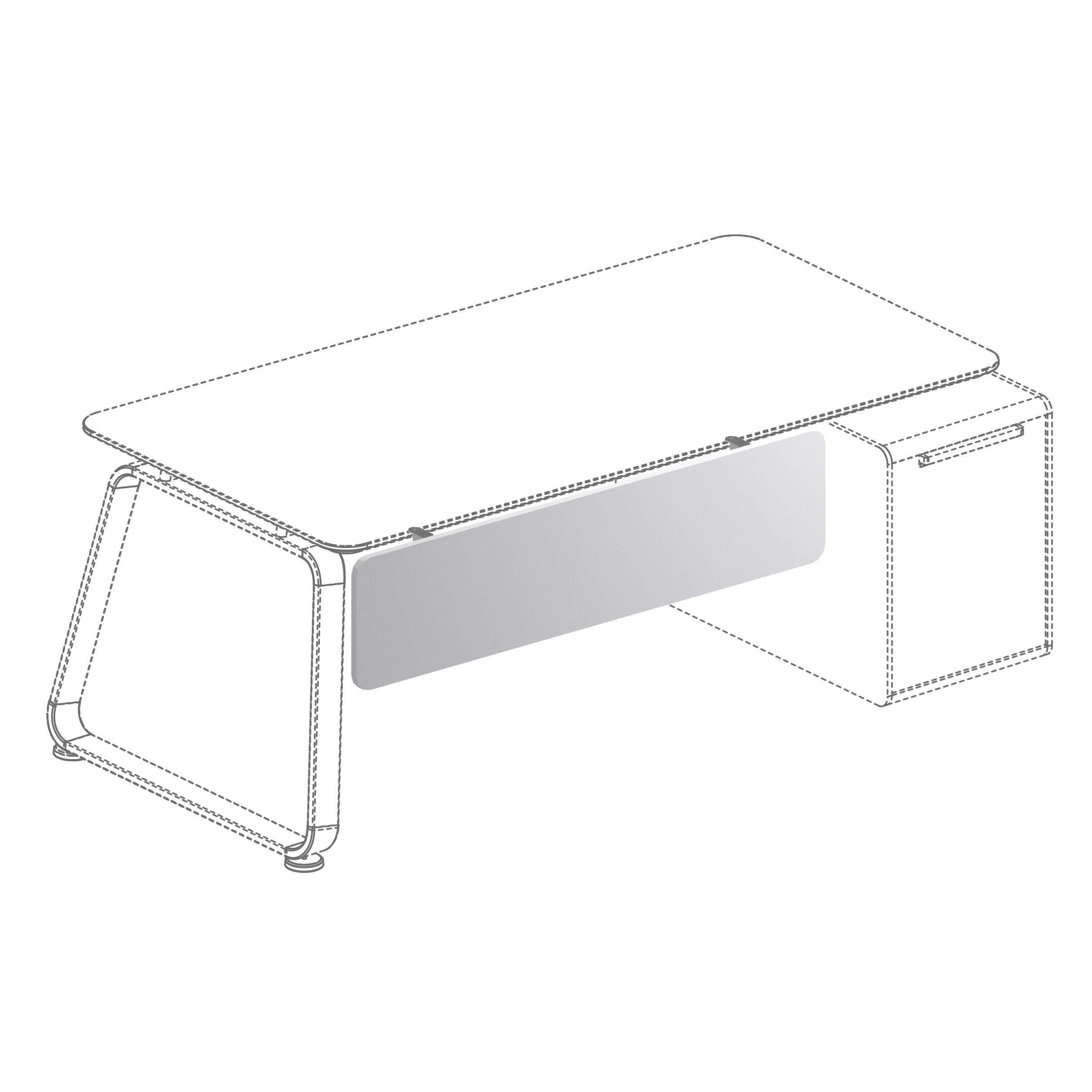 Фронтальная панель к столу на опорной тумбе 1243x18x300