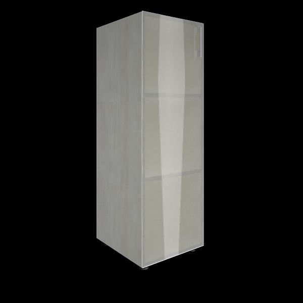 Стеллаж средний узкий левый со стеклом 400x450x1195