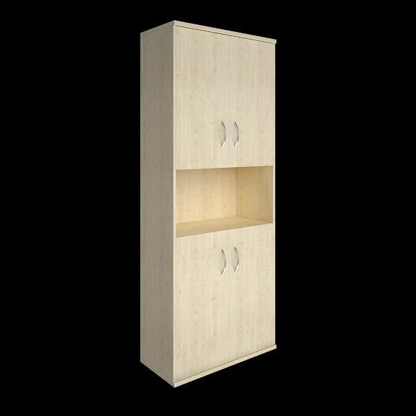 Шкаф высокий полуоткрытый с 4мя дверцами 770x365x1975