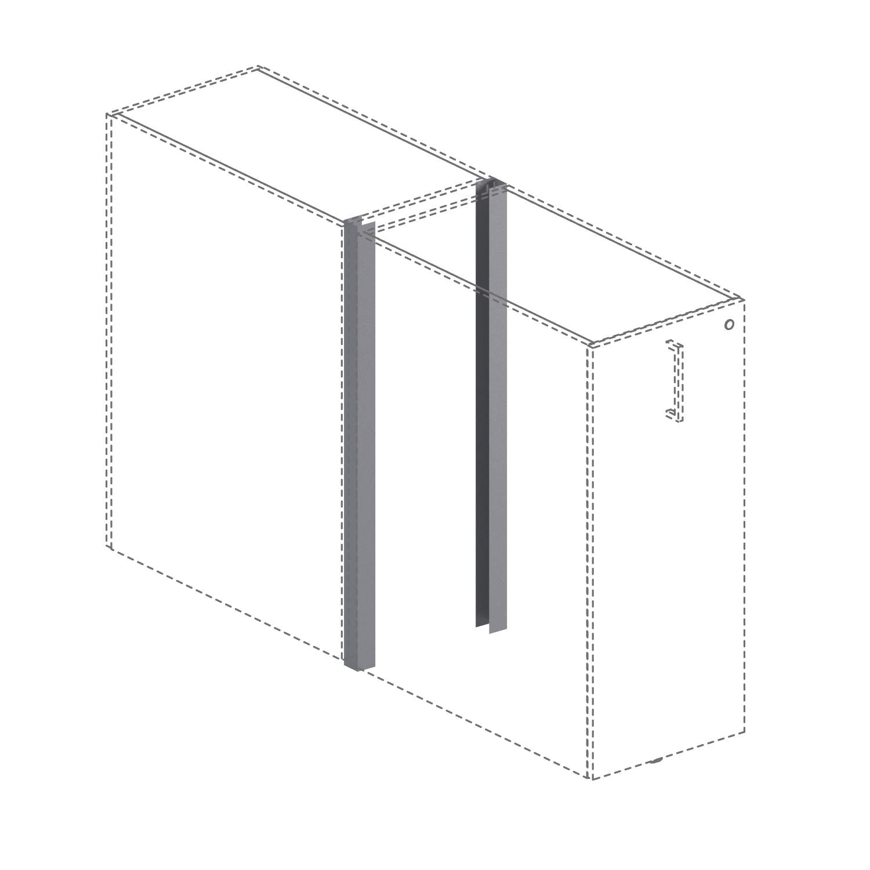Заглушки для соединения 2 тумб Tower 52x52x1093